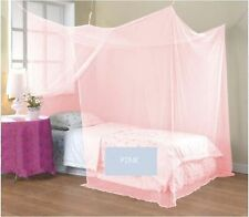 Pink 4 Corner Poster Student Family Use Canopy Bed Mosquito Net All Size