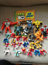 25 BEN TEN TOYS. LARGE & SMALL. PLUS ONE PAPERBACK BOOK - 'SIDE EFFECTS'