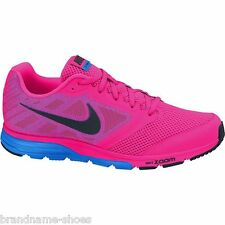 WOMENS NIKE ZOOM FLY FLURO PINK BLUE BLACK RUNNING TRAINING ATHLETIC GYM SHOES