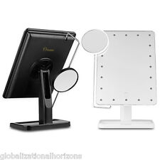 10X Magnification Makeup Mirror Portable Vanity Lighted Ajustable 20 LED Lights
