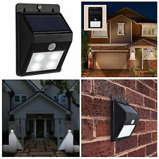 2/4/6 Solar Powered Bright Led Wireless PIR Motion Sensor Fence Shed Wall Light