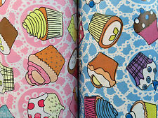 Prestige 2m Cute Cup Cakes Tablecloth Cover Oilcloth PVC Coated Fabric Picnic