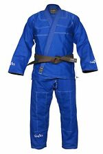 Blue BJJ Gi with Contrast White stitching (Free BELT+BAG Included)
