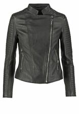 New Quilted Leather Jacket Slim Fit Motorcycle Women Black Size XS S M L XL XXL