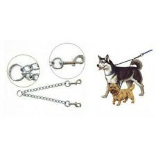 VEBO 2-way Coupler Chain Leash Attachment for Walking 2 Dogs (3 sizes)