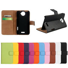 Stand Wallet Genuine Leather Card Case  Cover Protector Skin For HTC One X XL