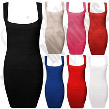 LADIES WOMENS PARTY SEXY STRETCH BODYCON PLEATED BANDAGE RIBBED MINI DRESS