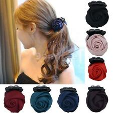 1Pc Women's Fashion Rose Flower Bow Hair Claw Jaw Clip Clamp Barrette Headband