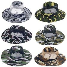 Unisex Camo Mesh Bucket Hat Boonie Hunting Fishing Outdoor Military Army Cap