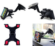 360° Double Dual Clip High Quality Car Windshield Mount Holder Strong For HTC au