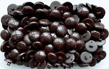 23mm 36L Chocolate Brown Leather Effect Aran Football Quality Shank Buttons FB10