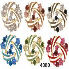 Stylish Flower Rhinestone Crystal Brooch Pin Jewelry Party Casual Family Gifts