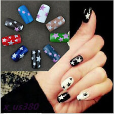Fashion Style 3D Glitter Stars Nail Art Water Transfers Decals Stickers DIY #2