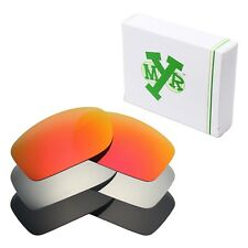MRY POLARIZED Replacement Lenses for-Oakley Fives Squared Red / Silver / Black