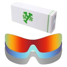 MRY POLARIZED Replacement Lenses for-Oakley Antix Fire Red / Ice Blue / Silver