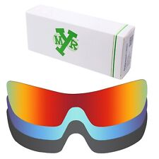 MRY POLARIZED Replacement Lenses for-Oakley Batwolf Fire Red / Ice Blue / Black