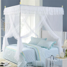 Lace Hight QC 4 Corners Post Bed Canopy Mosquito Net All Sizes