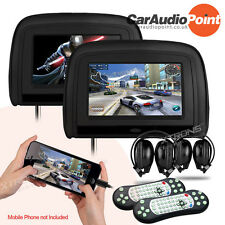 """XTRONS 9"""" Leather-Style Car DVD Player Headrest Monitor Screen HDMI/GAME/HEADSET"""