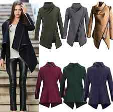 Women Warm Wool Slim Long Trench Parka Peacoat Outwear Overcoat Coat Jacket