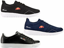 New Ellesse Mens Leather Retro Logo Trainers  Run Shoes Casual Sneakers