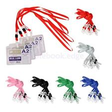 10 x Lanyard ID Card Cases Badge Neck Strap Holder String Plastic Clasp Office