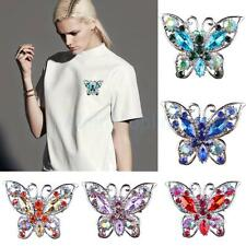 Wedding Bridal Butterfly Rhinestone crystal brooches brooch pin Decoration