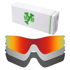 MRY POLARIZED Replacement Lenses for-Oakley Radar Path Red / Silver / Black