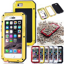 Shockproof Aluminum Gorilla Glass Metal Hard Case For iPhone 4S 5C 5S 6 6S Plus