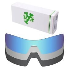 Mryok POLARIZED Replacement Lenses for-Oakley Oil Rig Blue / Silver/ Black