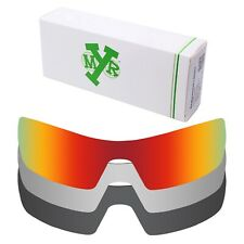 Mryok POLARIZED Replacement Lenses for-Oakley Oil Rig Red / Silver / Black