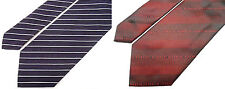 """GIVENCHY PARIS NEW STRIPED/LOGO SILK/WOOL TIE MADE IN ITALY W3.5"""" L56.75"""" 2 ties"""