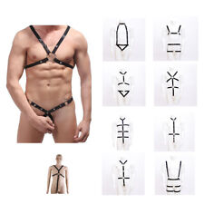 New Mens Sexy Lingerie Strappy Thong Bodysuit Mankini Harness Underwear Clubwear