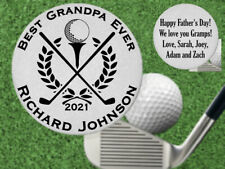 Great Fathers Day Gift! BEST Grandpa Golf Ball Marker, Personalized FREE