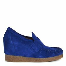 ARTe FACT Aramis Blue Suede Wedge Loafer RRP£69