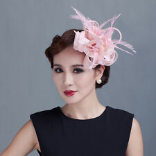Fancy Women's Party Races Feather Sinamay Decorations Clip Wedding Fascinator