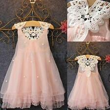 Baby Toddler Girls Lace Flower Party Wedding Birthday Princess Dress Kids Dress