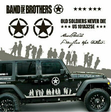 Vinyl Band Of Brothers Car Sticker US Army Auto Side Skirt Decal Jeep Wrangler