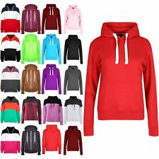 Ladies Full Sleeve Hoodies Top Womens Fleece Sweatshirt Jumper Pocket Sweater