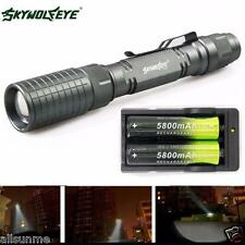Zoomable 4000 Lumen 5 Modes CREE LED Torch Lamp Light Flashlight+18650 + Charger
