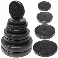HARDCASTLE WEIGHT LIFTING PLATES/DISCS GYM TRAINING DUMBBELL/BAR VINYL WEIGHTS