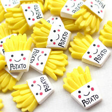 20/100pcs Yellow Potato Resin Flatback Flat Backs Scrapbooking Craft B0505