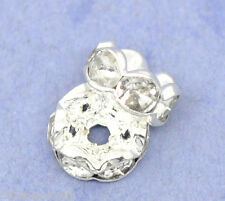 Wholesale Silver Plated Rondelle Spacer Beads 8mm
