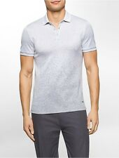calvin klein mens premium cotton jacquard polo shirt