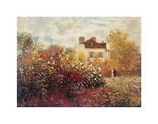 CLAUDE MONET - GARDEN AT ARGENTEUIL Poster   Cubical ART   Gifts   FREE Shipping
