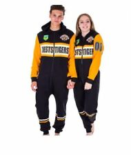 WESTS TIGERS NRL TEAM ADULT ONESIE FOOTBALL FOOTYSUIT UNISEX PYJAMAS