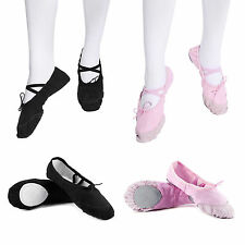 Ballet Canvas Full Sole Dance Yoga Gymnastic Shoes Children's & Adult's Sizes