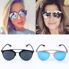 New Women Mirrored Lenses Designer Retro Vintage Cat Eye Oversized Sunglasses