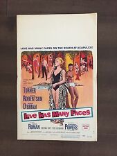 """14"""" X 22""""  Movie Promotion Poster (in color) of """"Love Has Many Faces"""" - 1965"""