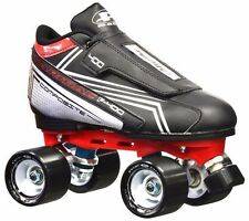 NEW for 2016! Red and Black Pacer Tarmac F-400 Quad Derby Speed Roller Skates!