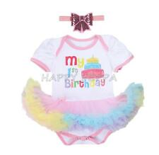 2pcs Girls Baby Infant Romper Bodysuit +Birthday Party Tutu Dress Outfit Clothes